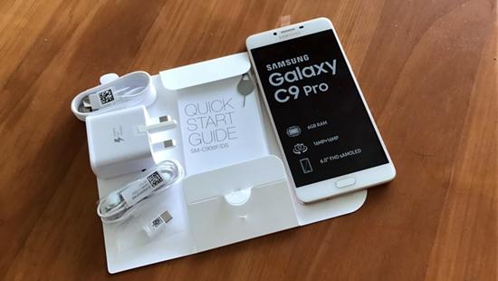 man hinh Samsung C9 Pro bi den