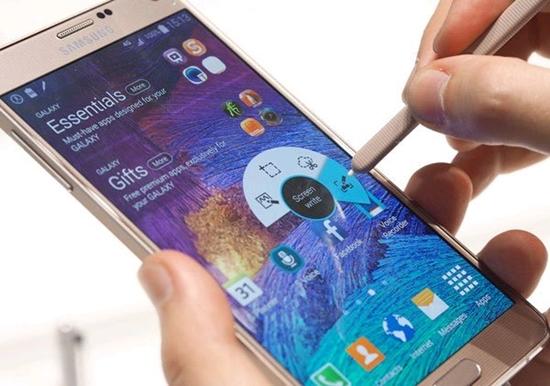 chup man hinh Samsung Note 4