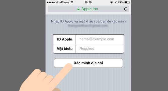 cach xac minh tai khoan App Store