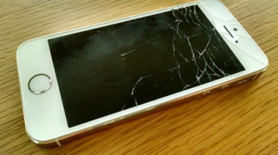 màn hình điện thoại bị vỡ